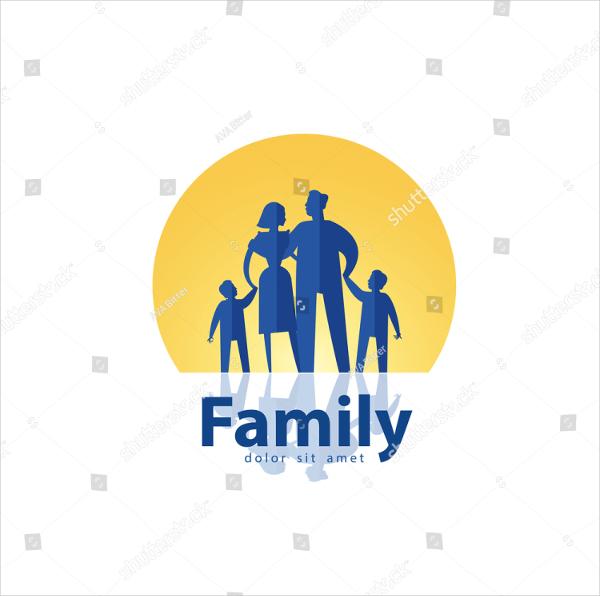 Family Vector Logo Design Template