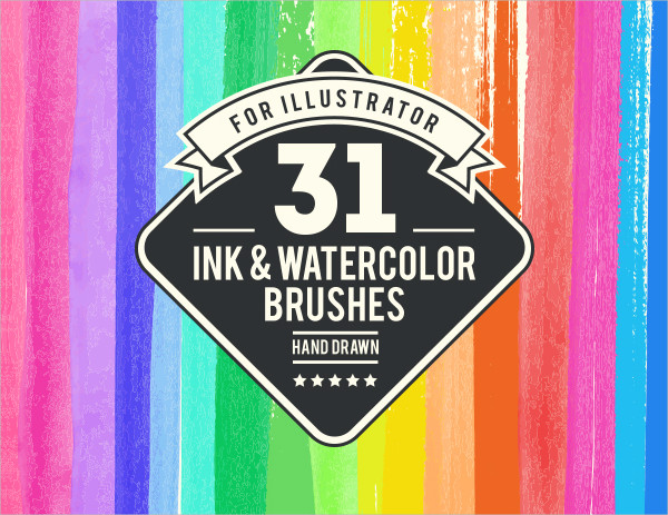Watercolor And Ink Brushes