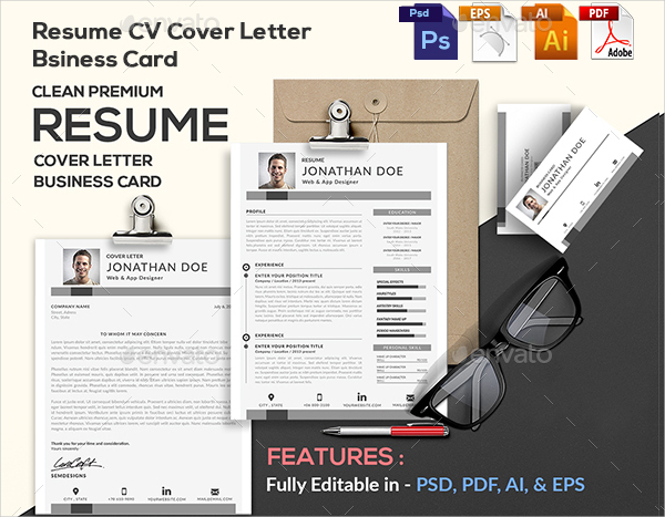 Abstract Creative Resume Template