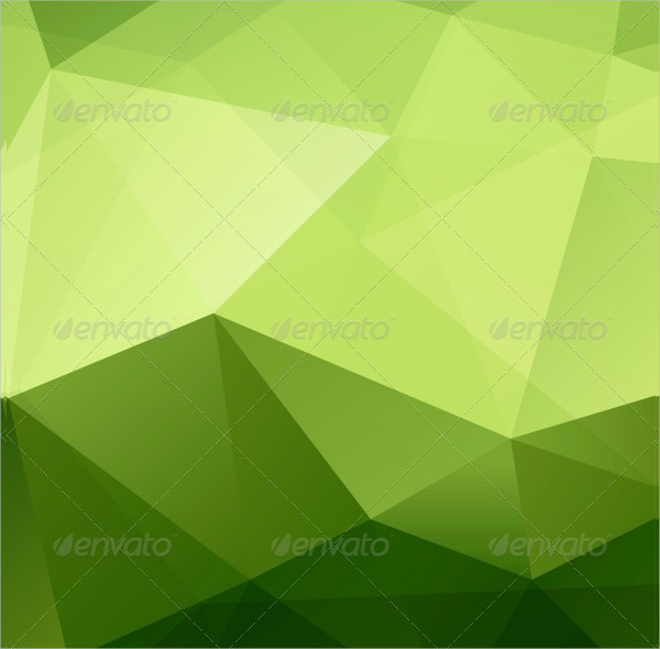 Abstract Green Triangle Geometrical Background