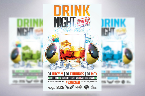 Alcohol Drink Party Flyer Templates