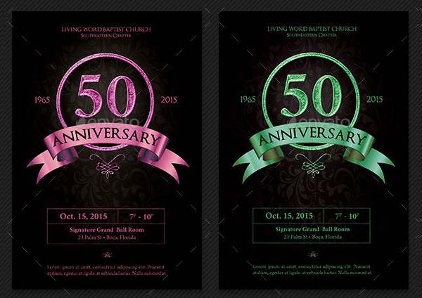 Anniversary Banquet Flyers Template