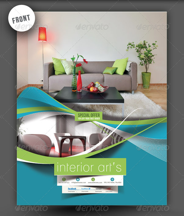 Architecture & Interior Designer Flyer Template