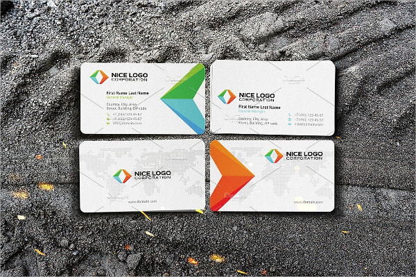 Arrows Triangle Business Cards Template