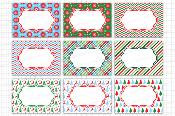 Attractive Christmas Labels