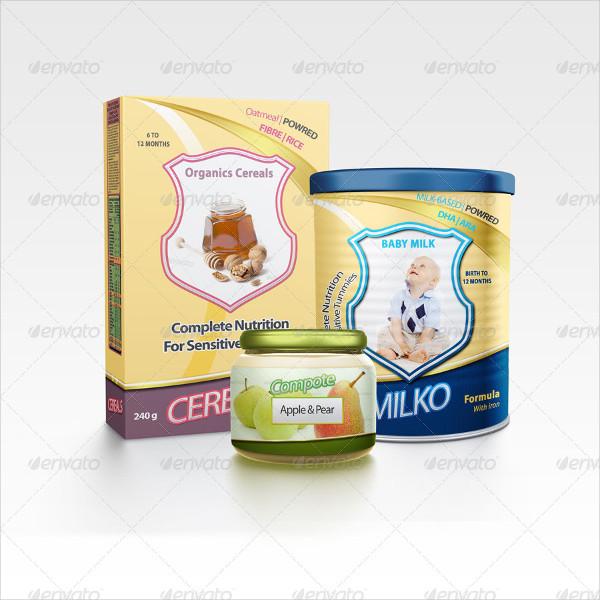 Baby Food Packaging Mockup