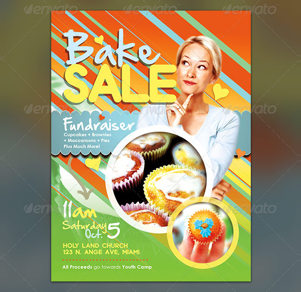 Bake Sale Fundraiser Flyer Template