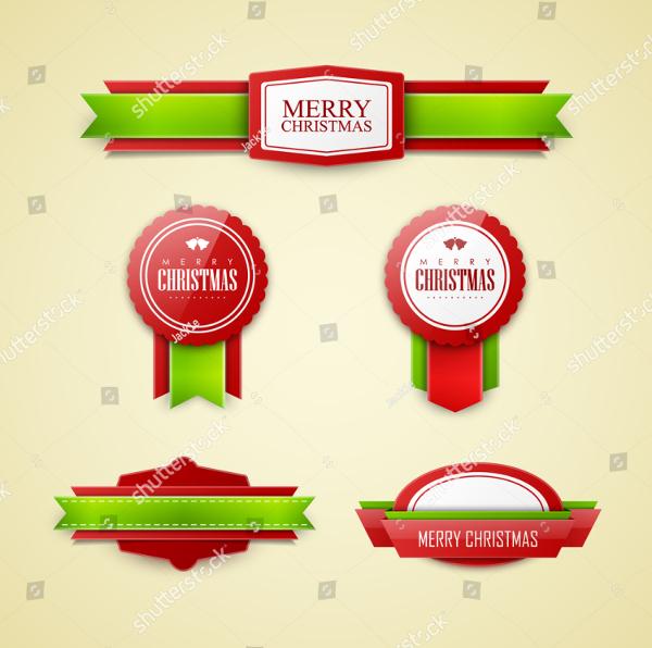 Beautiful Christmas Labels Set