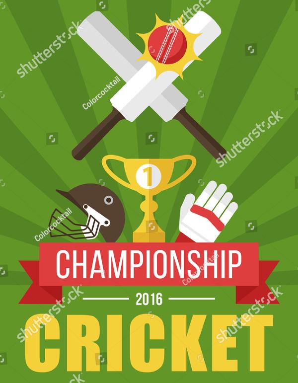 Best Cricket Flyer Template