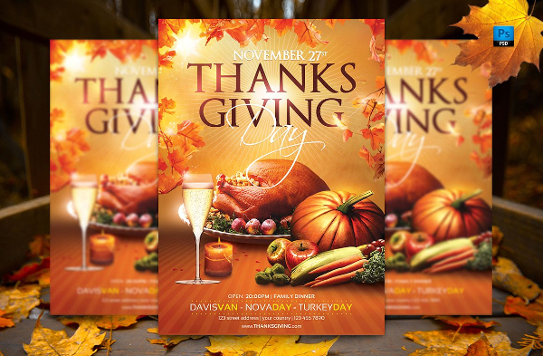 Best Thanksgiving Day Flyer Template