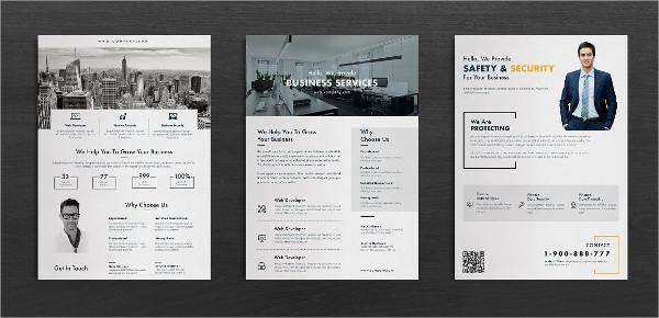 Black & White Corporate Flyer Templates