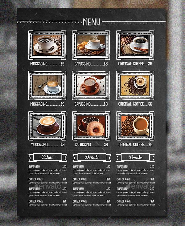 Abstract Blackboard Food Menu Flyer