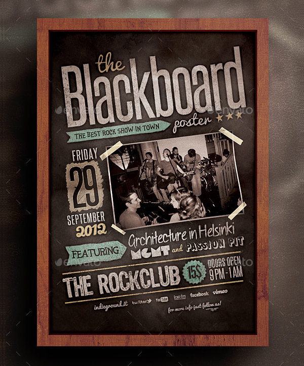 Clean Blackboard Flyer Template
