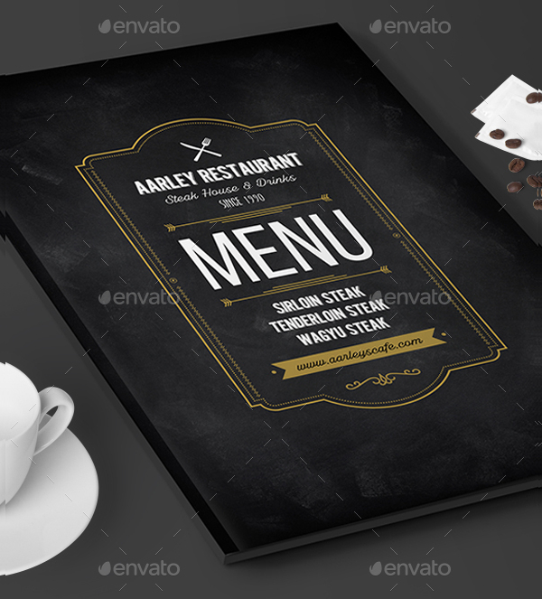 Blackboard Restaurant Menu Flyer