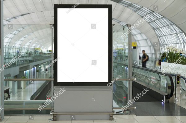 Blank Mockup Of Billboard