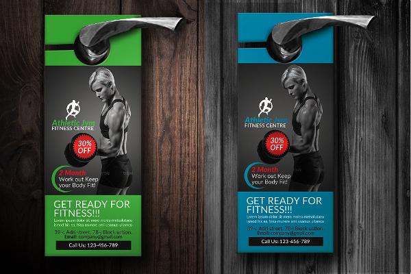 Body Fitness Gym Door Hanger