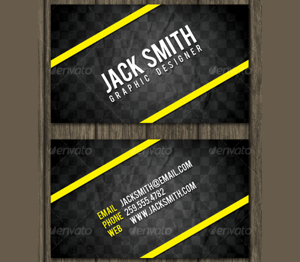 Bold Stripes Networking Business Card