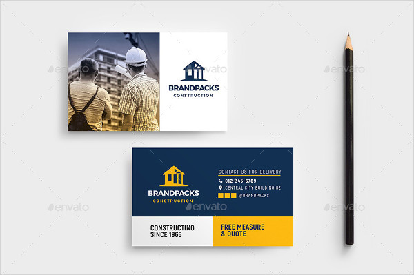 25 construction business card printable psd eps downloads construction images for business card template cheaphphosting Image collections