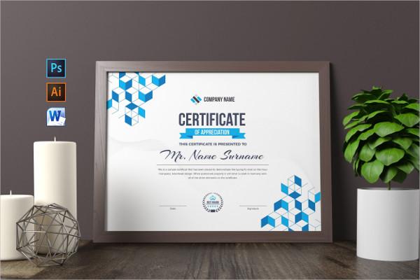 Business Design Certificate Template