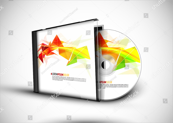CD Cover 3D Presentation Template