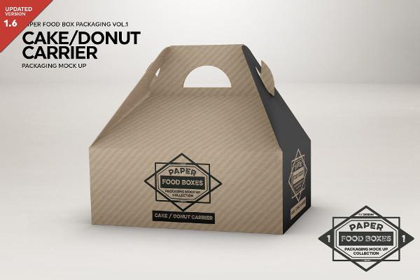 Cake Carrier Packaging Mockup