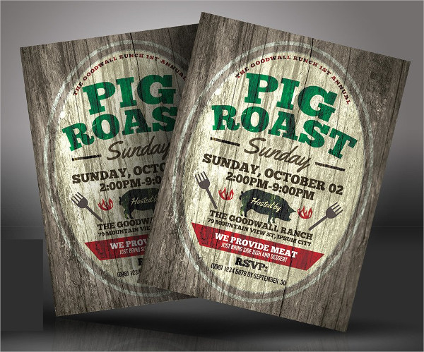 Catering Pig Roast Flyer Templates