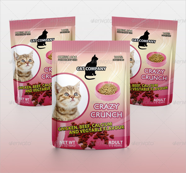 Cats Food Packaging Mock-up