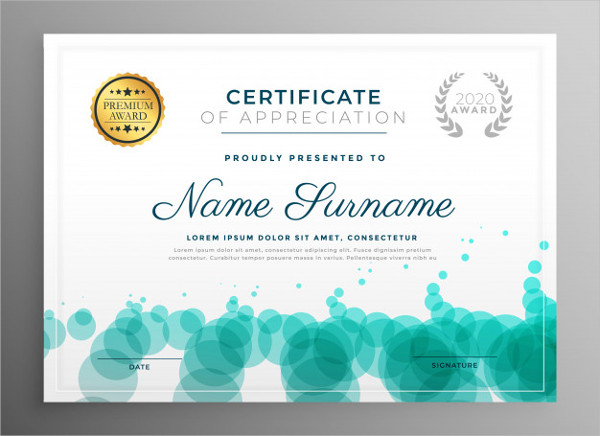 Certificate Template Design With Dots Pattern