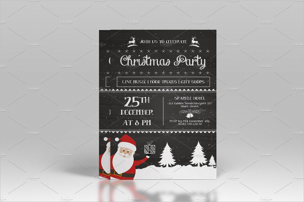Chalkboard Christmas Flyer