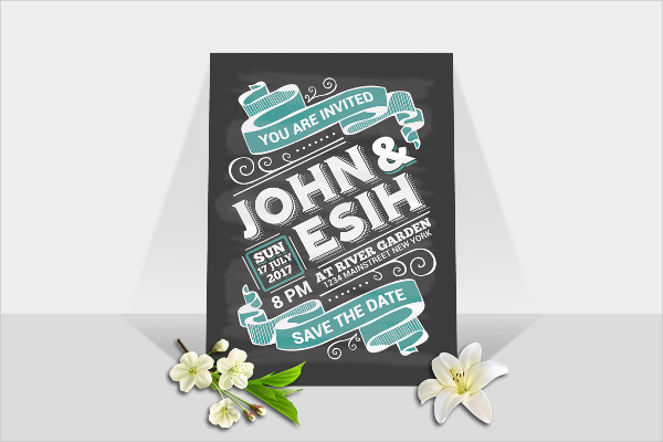 Perfect Chalkboard Wedding Invitation