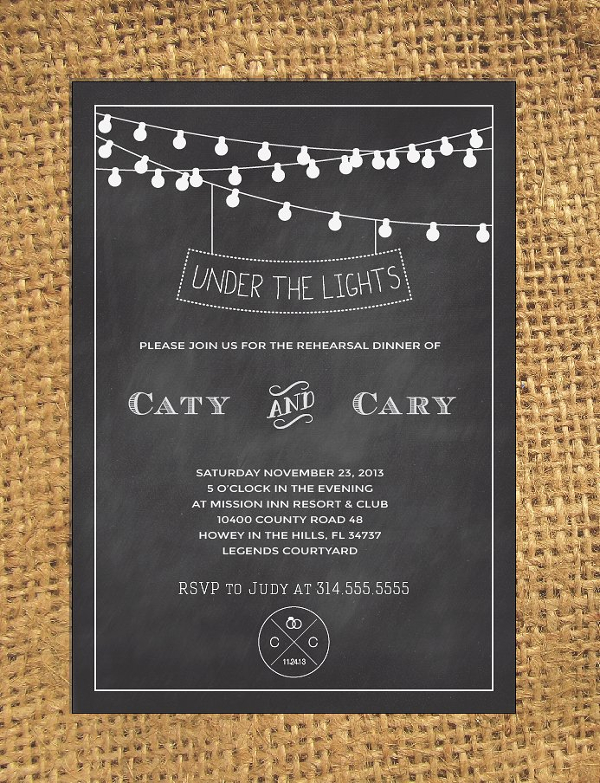 Chalkboard Wedding Design Invitation