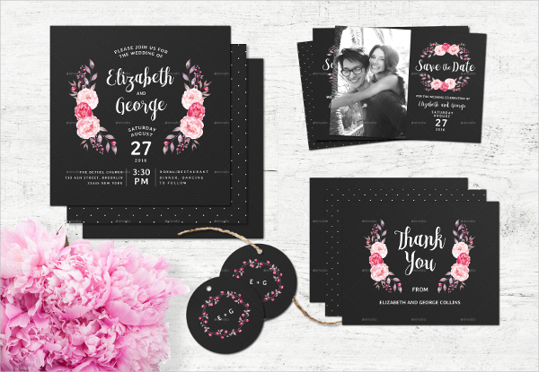 Chalkboard Wedding Invitation Stationery
