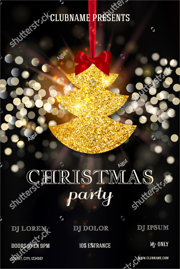 Christmas Drinks Party Flyer Templates