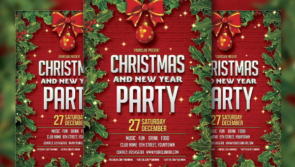 27 christmas party flyer templates psd illustrator format downloads