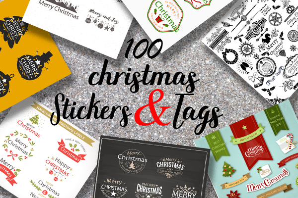 Christmas Stickers And Labels