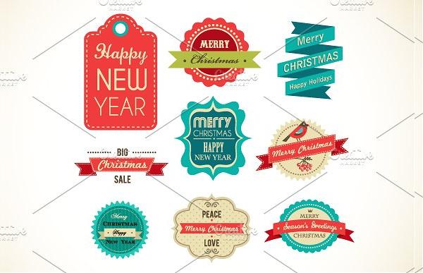 Christmas Vintage Labels & Elements