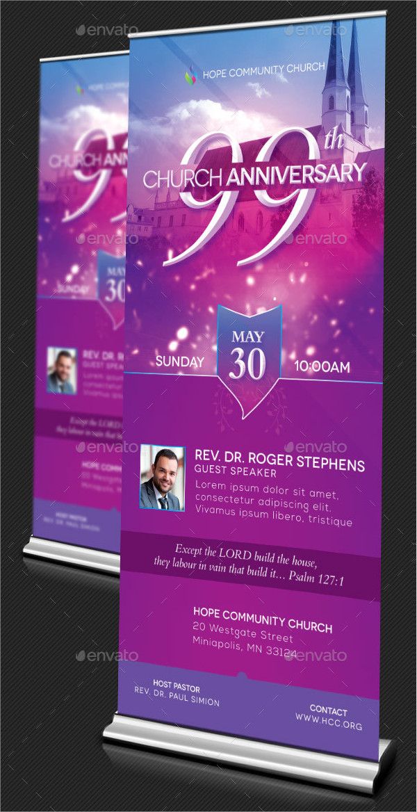 Church Celebration Banner Templates