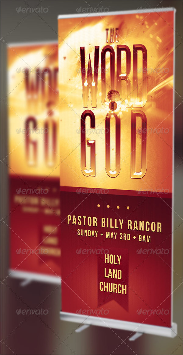 Church Retractable Banners Templates