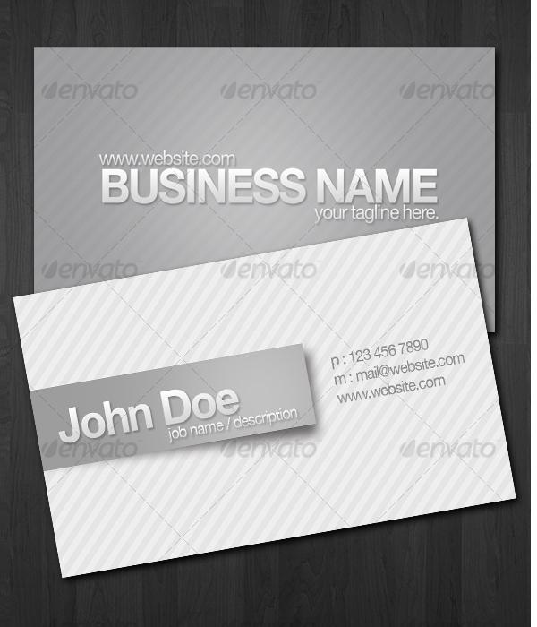 Custom Stripes Business Cards