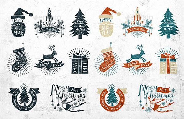 Clean Vintage Christmas Labels