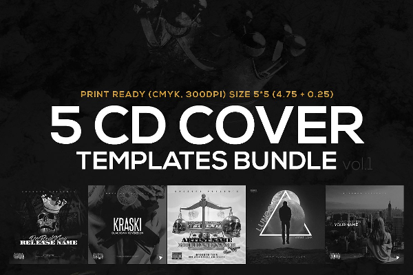 Clean CD Cover Templates Bundle