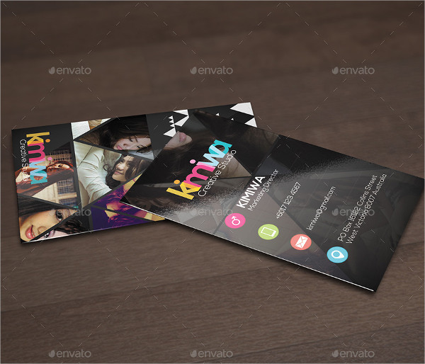 Colorful Triangles Business Card