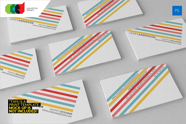 Color Stripes Business Cards