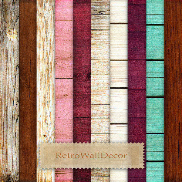 Colored Wooden Background