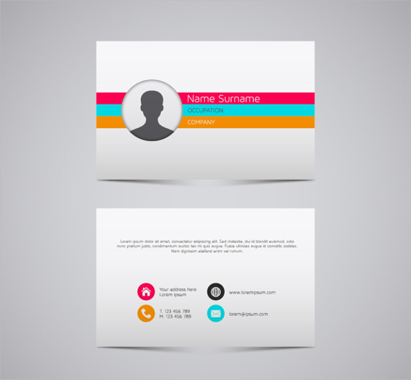 Colorful Stripes Business Card Free