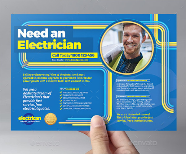 13  electrician flyer templates