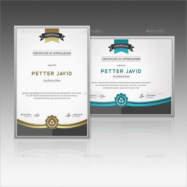 Corporate Certificate Design Templates