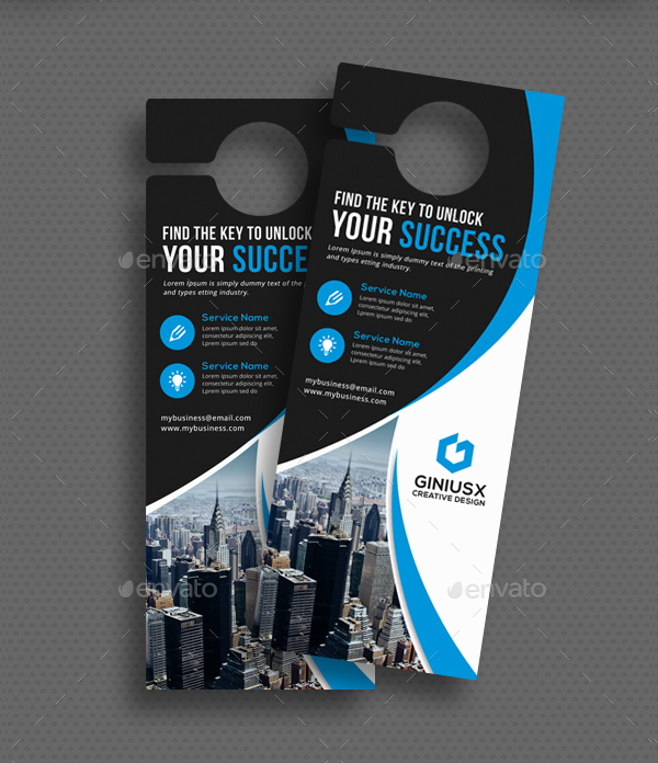 24 door hanger templates free premium psd png eps ai downloads