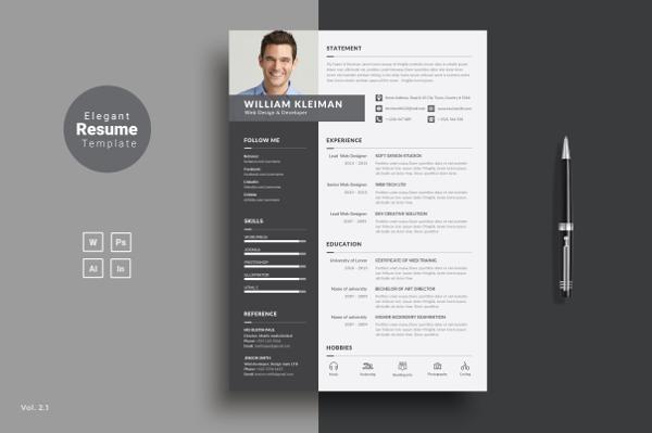 Creative Minimal Resume Design