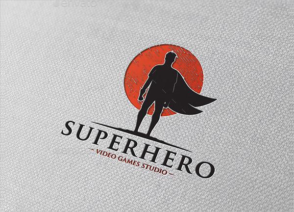 Creative Studio Super Hero Logo Template